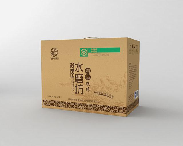 28水磨坊面粉 包裝設計